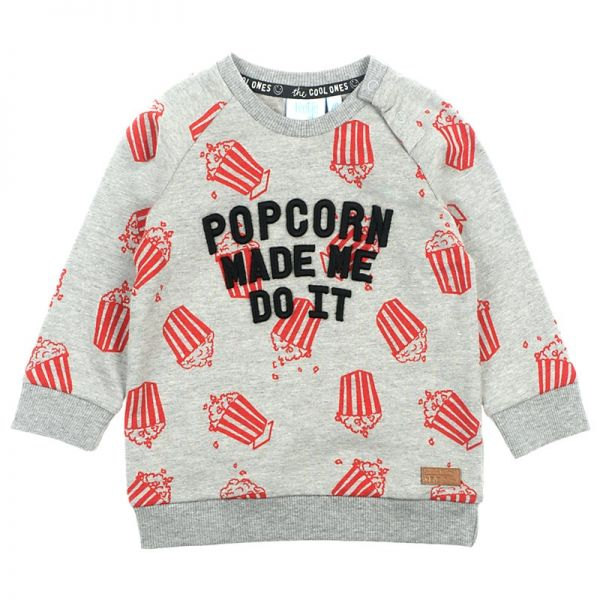Feetje Popcorn Party Sweater grey