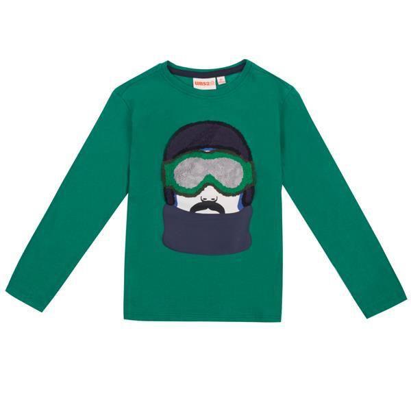 UBS2 Longsleeve grün Skifahrer