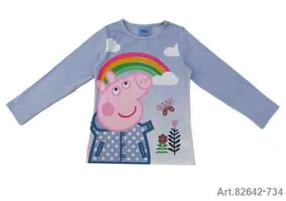 Püttmann Peppa Pig Wutz Shirt Longsleeve hellblau