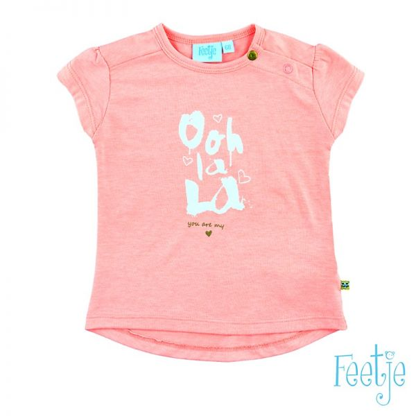 Feetje ooh la la T-Shirt in coral