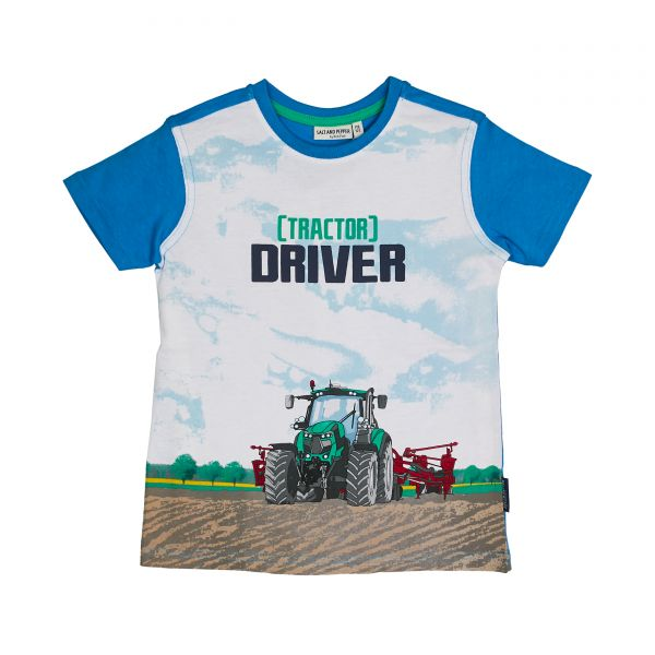 Salt and pepper T-Shirt Traktor Driver Junge