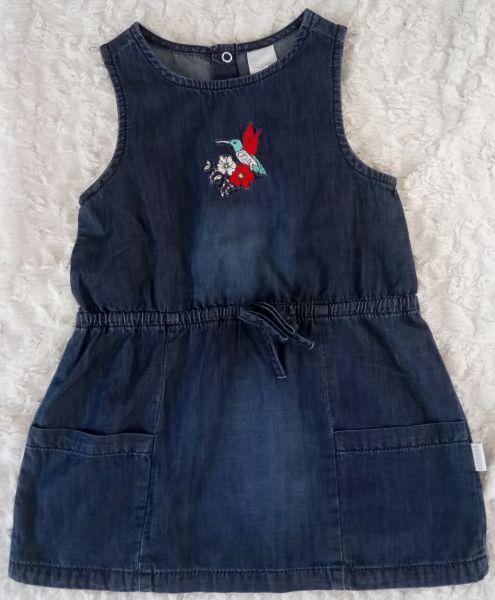 Stummer Kleid Jeansstoff blau