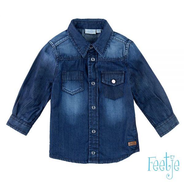 Feetje Wheels Hemd blau denim Jeanshemd