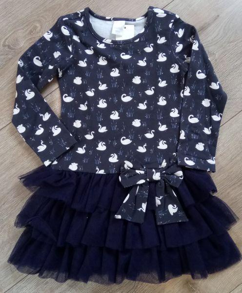 Stummer Kleid Schwan mit Arm und Tüllrock navy