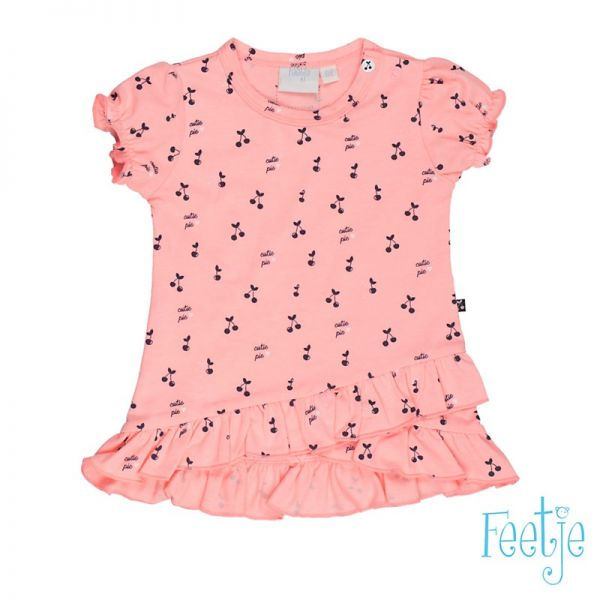Feetje cherry Kleid coral pink