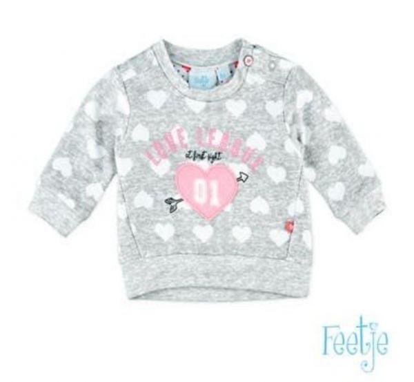 Feetje loved Sweater grey melange
