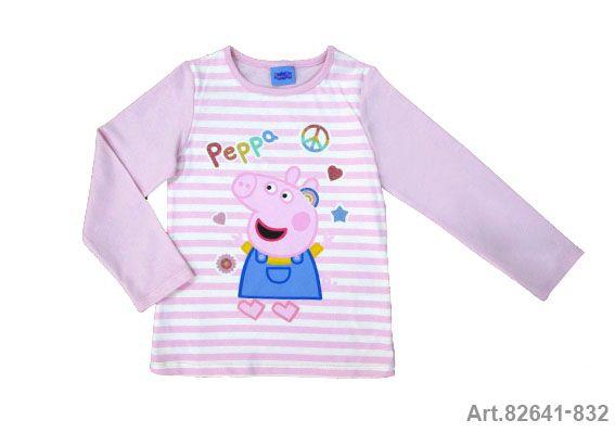Püttmann Peppa Pig Wutz Shirt Longsleeve rosa