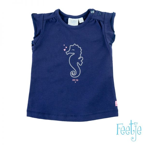Feetje Pretty paisley T-Shirt navy