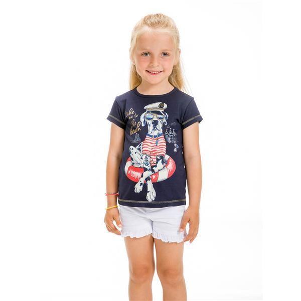UBS2 T-Shirt navy Mädchen