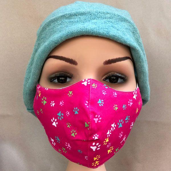 One click wonders Gesichtsmaske Jugendliche pink Tatzen