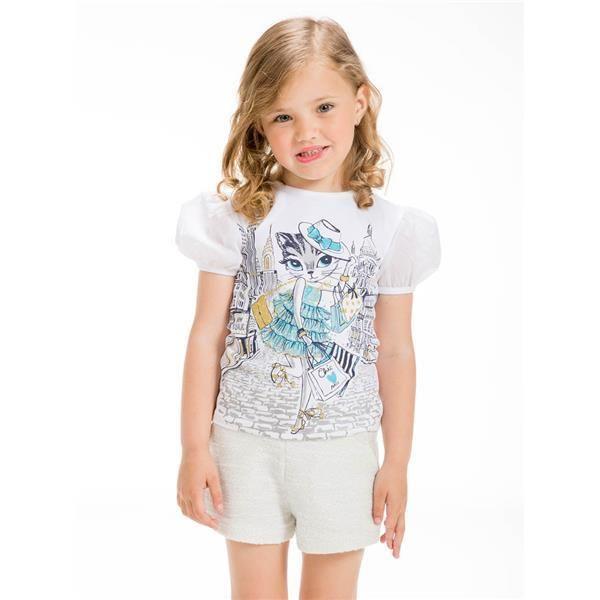 UBS2 T-Shirt weiß Mädchen