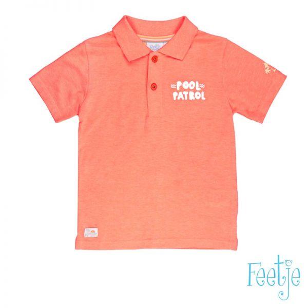 Feetje Pool Party Polo Shirt neon orange Junge