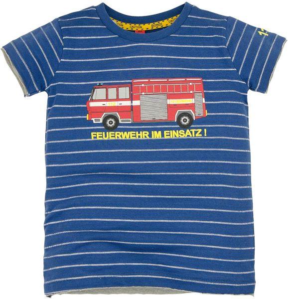BONDI T-Shirt Geringelt ´Feuerwehrauto´ Under Construction