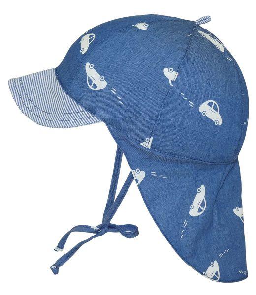 Fiebig Jungenbindemütze Schirmmütze Sommermütze Nackenschutz
