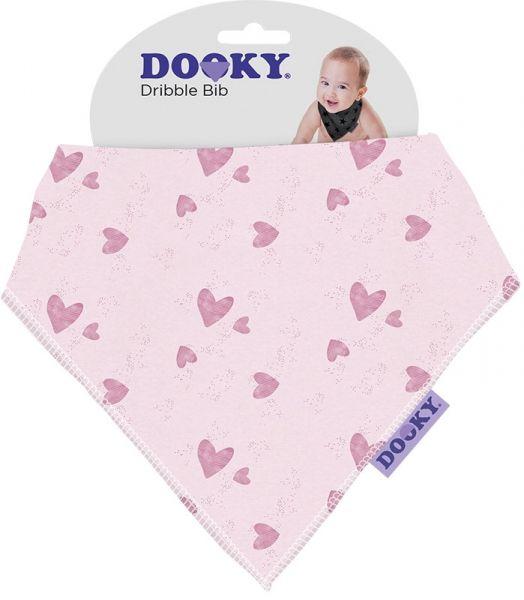 Dooky Lätzchen Dreieckstuch Dribble Bib - Pink Heart