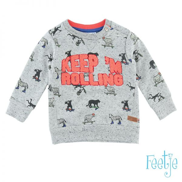 Feetje wheels Sweater grey melange