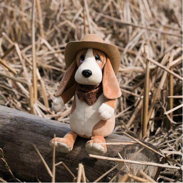Orange Toys Billy the Basset Hund Cowboyhut 25 cm