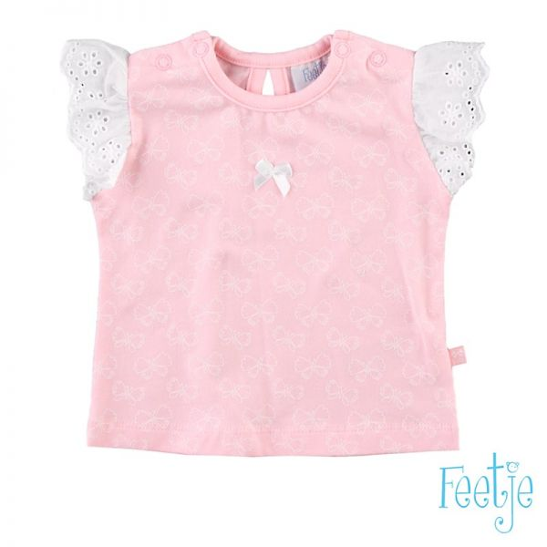 Feetje Butterfly T-Shirt rosa