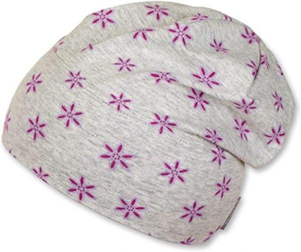 Sterntaler - Slouch-Beanie Mütze Mädchen Sternblume, lila
