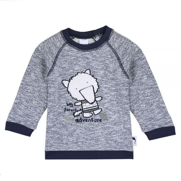 Stummer Sweater Pullover grau warm
