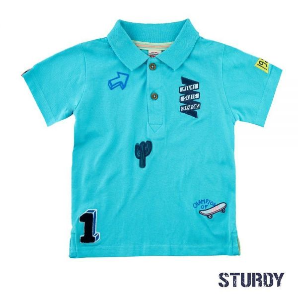 Sturdy Polo Shirt aqua Junge