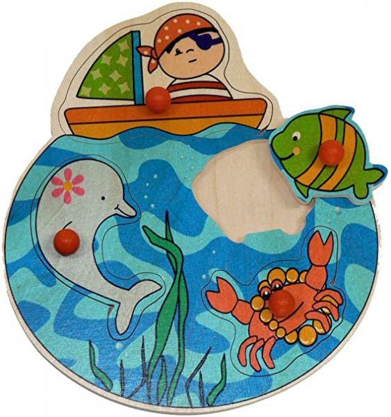 Hess Griffpuzzle Pirat Steckpuzzle Kinderpuzzle