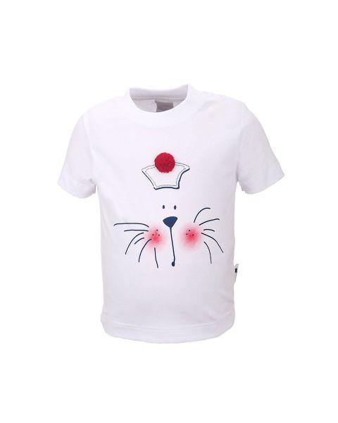 Stummer T-Shirt weiß