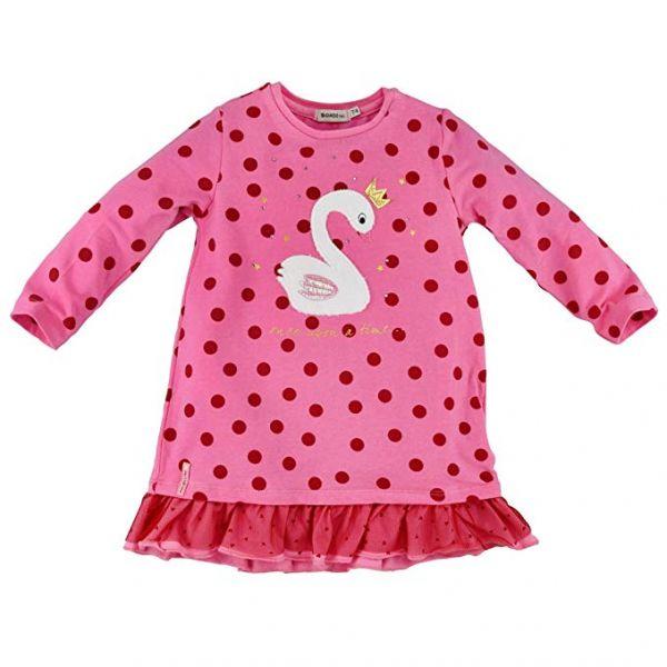 Bondi Kleid rosa rot Schwan