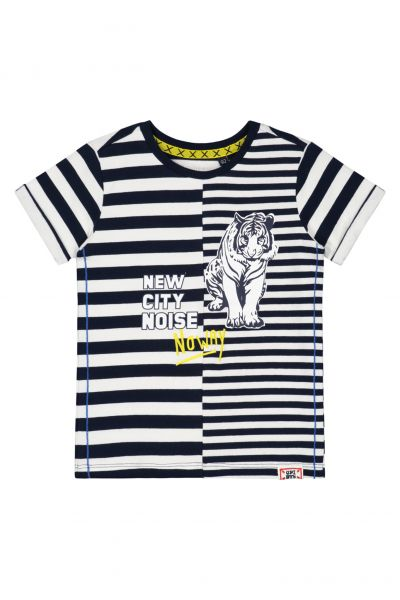 Quapi BENT T-Shirt S201 Dark Blue Stripe