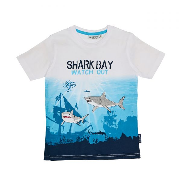 Salt and pepper T-Shirt Shark Bay print watch out