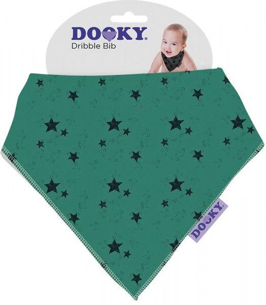 Dooky Lätzchen Dreieckstuch Dribble Bib - Green Star