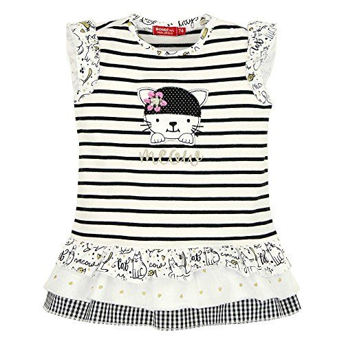 Bondi Kleid ´Little Cat´ weiß/black