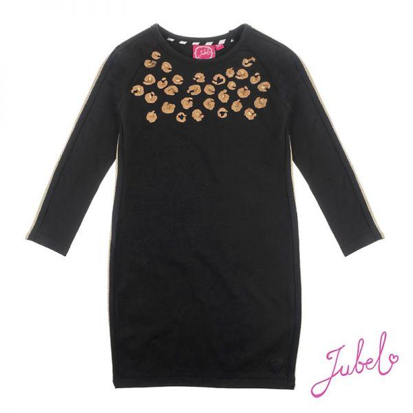 Jubel Leopard Lipstick Kleid schwarz