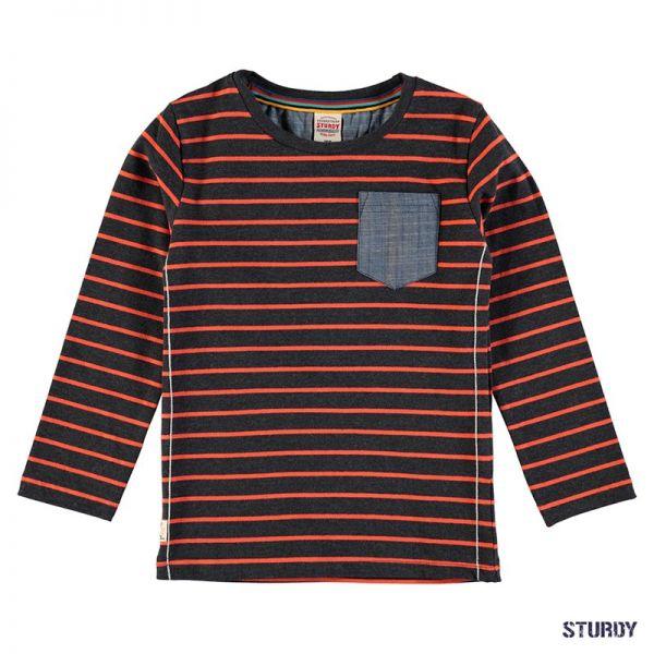 Sturdy Wheels Shirt Longsleeve Junge black melange