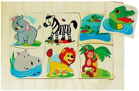 Hess Lernspiel Dschungeltiere Mama-Kind Puzzle