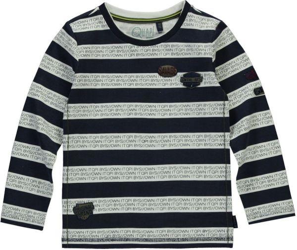 Quapi Tessel Longsleeve Shirt Dark blau