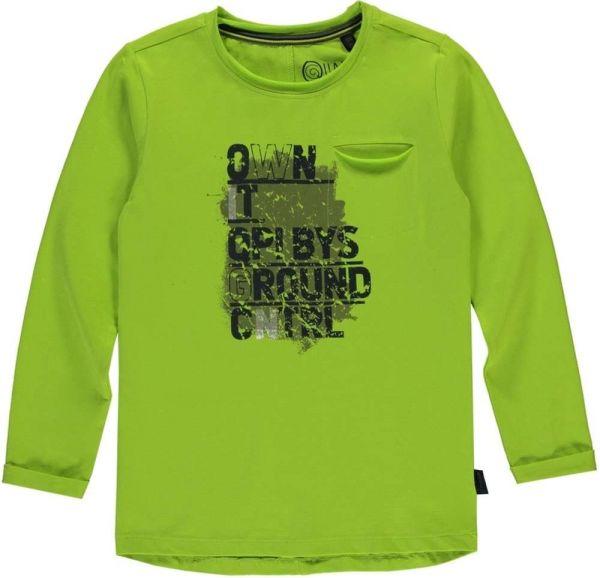 Quapi Tieme Shirt Longsleeve in lime green