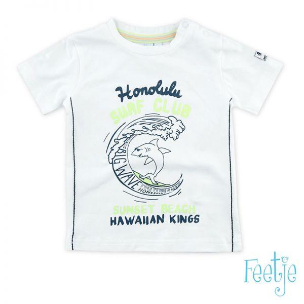 Feetje Blue Surf T-Shirt weiß