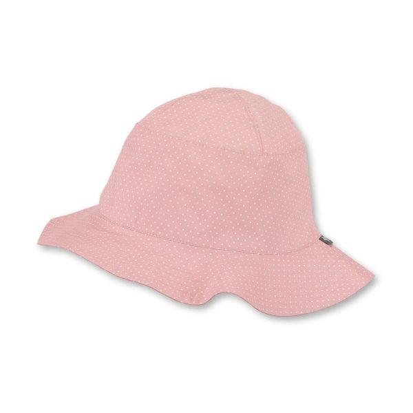 Sterntaler Sonnenhut Sommerhut, rosa, weiß gepunktet Mädchen