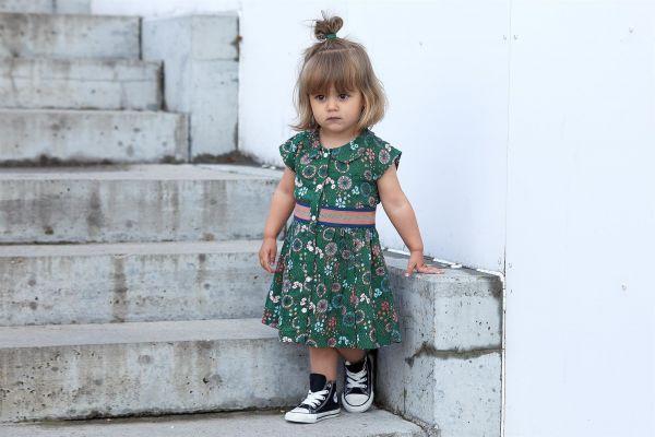 Small Rags Kleid grün mit Blümchen