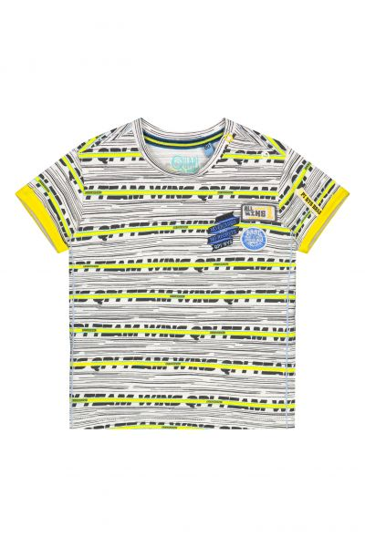 Quapi BERK T-Shirt S202 - Empire Yellow Stripe