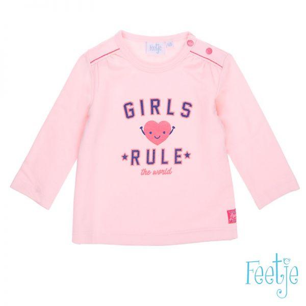 Feetje You & me Girls rule Sweater rosa