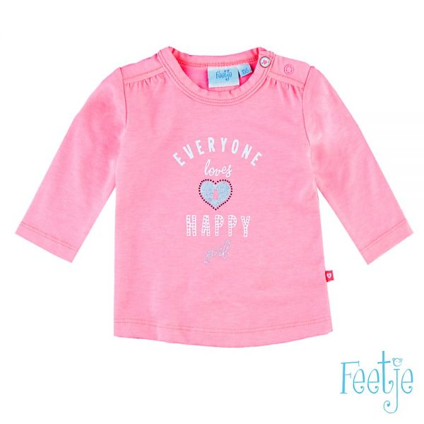 Feetje loved Shirt neon pink