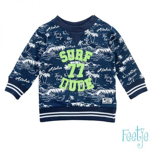 Feetje Blue surf Sweater indigo