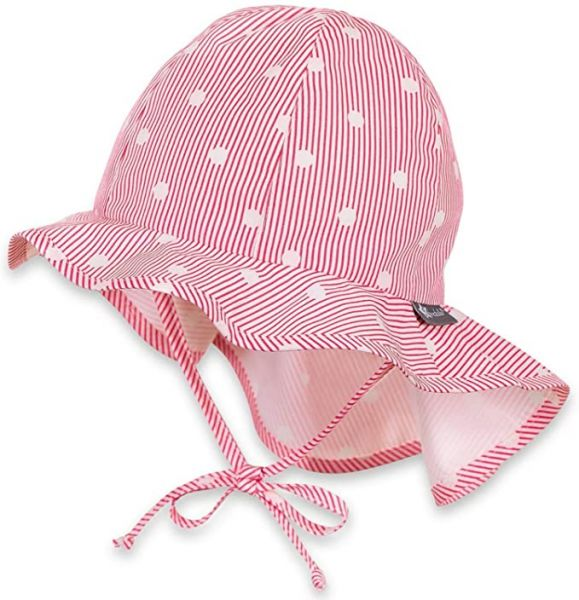 Sterntaler Sonnenmütze mit UV-Schutz 30 mit Nackenschutz zum Binden-Copy