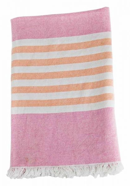lulujo Turkish Towel Badetuch - Passion Pink & Apricot