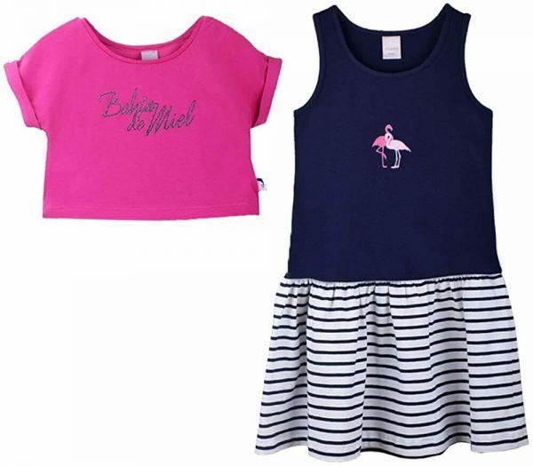 Stummer Kleid 2tlg. mit Flamingo