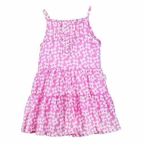 Stummer Sommerkleid mit Blümchen und Spagettiträgern